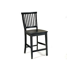 "Ebony Finish Bistro Bar Stool - 24-1/2""H Seat, CH04115"