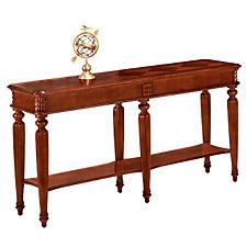 Antigua Narrow Cherry Wood Veneer Display Table, CH50208