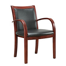 Bently Faux Leather Curved Arm Guest Chair, CH50793
