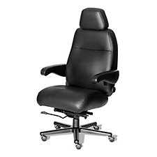 Henry Italian Leather 24/7 Big and Tall Chair with Headrest, CH50780