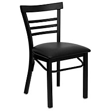 Jackson Vinyl Seat Ladder Back Cafe Chair, CH51475