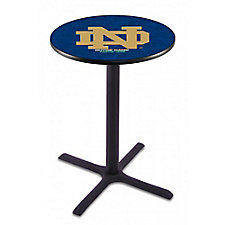 "College Logo X-Base Table - 28""DIA x 36""H, CH51438"