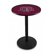 "College Logo  Disc Base Table - 28""DIA x 36""H, CH51442"