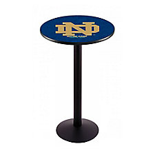 "College Logo Disc Base Table - 36""DIA x 42""H, CH51445"