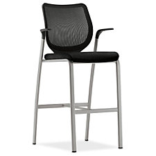 HON Nucleus Fabric and Mesh Cafe Stool with 300 lb. Weight Capacity, CH50470