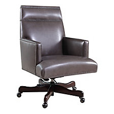 Seven Seas Leather Managers Chair with Nailhead Trim, CH50647