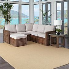 Barnside Polyester Indoor or Outdoor L Sofa, Ottoman and End Table, CH51083