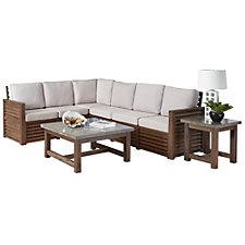 Barnside Polyester Indoor or Outdoor L Sofa, Coffee Table and End Table, CH51084