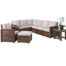 Barnside Polyester L Sofa, Arm Chair, Ottoman and End Table, CH51085