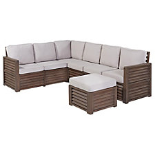 Barnside Polyester Indoor or Outdoor L Sofa and Ottoman, CH51086