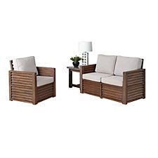 Barnside Polyester Loveseat, Arm Chair and End Table, CH51091
