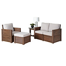 Barnside Polyester Loveseat, Arm Chair, Ottoman and End Table, CH51092