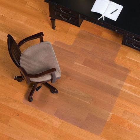 smooth chairmat w lip for hard floors 36 x 48. Black Bedroom Furniture Sets. Home Design Ideas