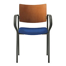 Tess Fabric Stack Chair with Wood Back, CH50965