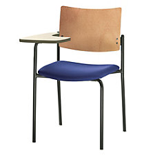 Tess Fabric Right Tablet Arm Chair with Wood Back, CH50966