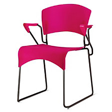 Jazz Plastic Sled Base Stack Chair with Arms, CH51042