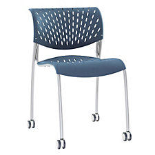 Hannah Plastic Armless Stack Chair with Casters, CH51053