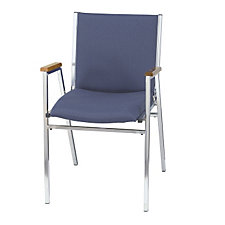 "Designer Fabric Stack Chair with Arms - 2"" Thick Seat, CH03041"