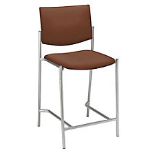 Armless Stool in Fabric, Polyurethane or Faux Leather, CH51383