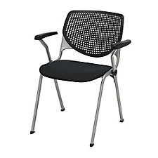Perforated Poly Back and Upholstered Seat Stack Chair - 400 lb. Capacity, CH51890
