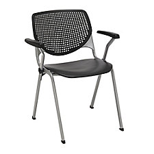 Perforated Back Poly Stack Chair with Arms - 400 lb. Capacity, CH51891