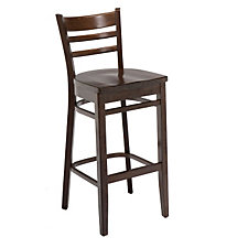 All Wood Cafe Stool with Ladder Back, CH04686