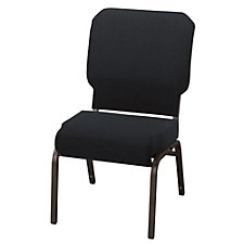 Armless Vinyl Wing Stack Chair with Waterfall Seat, CH50952
