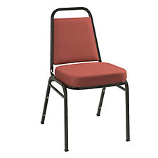 Fabric Stack Chair Black Frame, CH02497