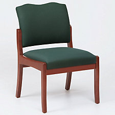 Traditional Style Armless Wood Frame Guest Chair, CH03270