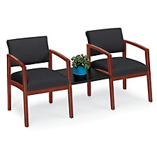 Lenox Two Chairs with Center Connecting Table in Fabric, CH52313