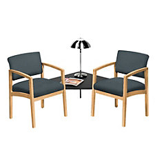 Lenox Fabric Two Chairs with Corner Connecting Table, CH02884