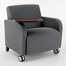 Siena Big and Tall Guest Chair with Casters and Swivel Tablet, CH03971