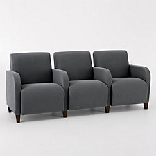 Siena Three Seat Sofa with Center Arms, CH03979