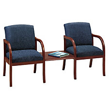 Fabric Transitional Style Two Seater with Connecting Center Table, CH02952