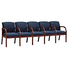 Fabric Transitional Style Five Seater with Center Arms, CH02959