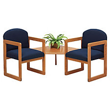 Reception Seating Set - Two Chairs with Corner Table, CH02854