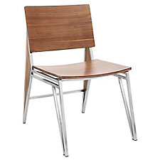 Tetra Armless Wood Chair with Metal Frame, CH51762