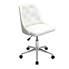 Marche Armless Faux Leather Computer Chair , CH51766