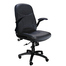 Comfort Pivot Arm Big and Tall Leather Executive Chair, CH02384