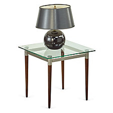 "Glass Top End Table - 22""W x 22""D, CH51515"
