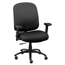 Faux Leather Big & Tall Chair with Arms, CH51366