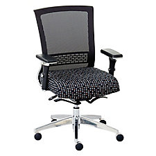 Mesh Back Ergonomic Chair with Patterned Fabric Seat, CH51572