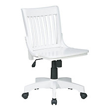 White Finish Armless Bankers Chair, CH04853