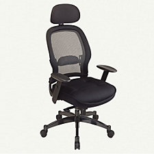 Space Mesh and Fabric High Back Ergonomic Chair with Headrest, CH00510