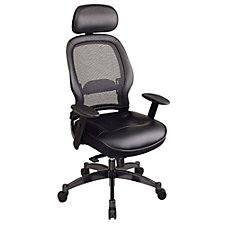 Space Mesh and Leather High Back Ergonomic Chair with Headrest, CH02506