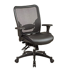 Space Matrex Mesh and Leather Mid Back Ergonomic Chair, CH03106
