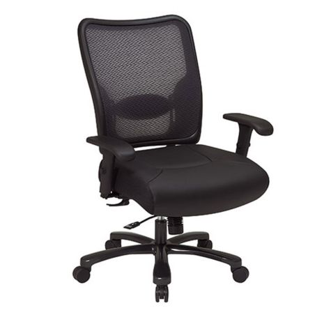 Space Mesh And Leather Big And Tall Ergonomic Chair Officechairs Com