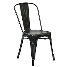 Bristow Metal Dining Chair with Wood Seat , CH51335
