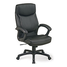 High Back Bonded Leather Executive Chair with Contrast Stitching, CH03633