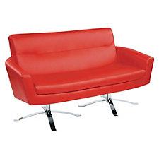 Nova Faux Leather Modern Loveseat, CH50880